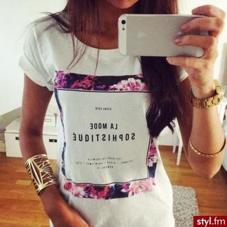 shirt floral girl shirts