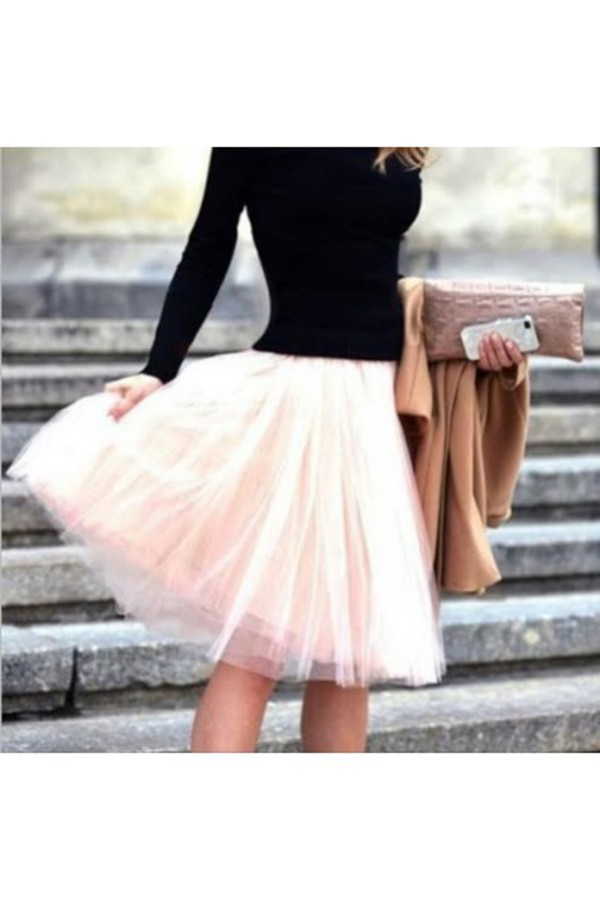 skirt tulle skirt tulle skirt fashion outfit elastic waist ivory ivory skirt funny cute cute skirt tumblr clothes
