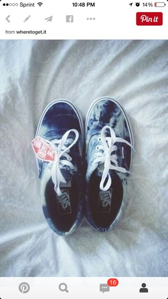 shoes jean washed vans sneakers