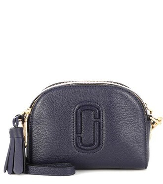 bag crossbody bag leather blue