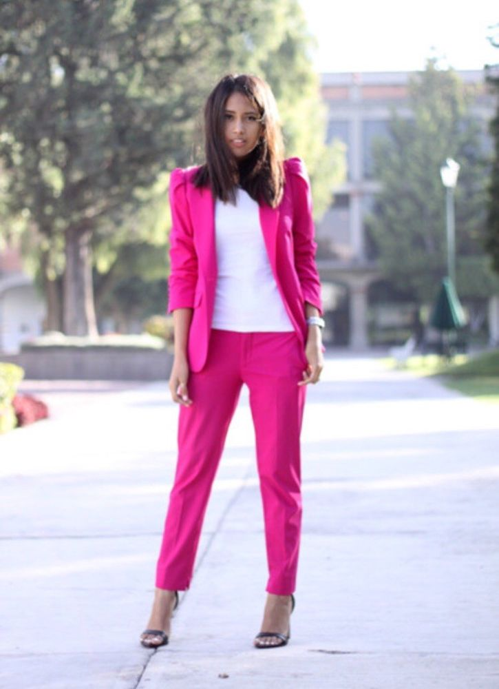 8e682a72 Zara Hot Pink Trousers Size Small