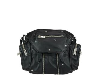 mini studded rose backpack black bag
