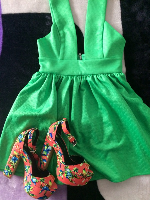 dress green green dress party dress beautiful fashion shoes