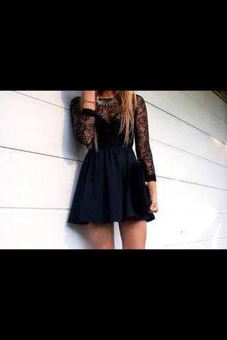 lace dress lace top dress short dress black black lace dress black dress