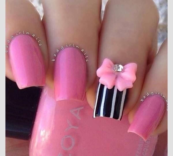 nail polish pink glitter