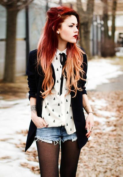 le happy blouse shorts jacket shoes shirt