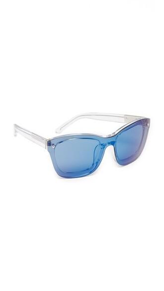 clear sunglasses blue