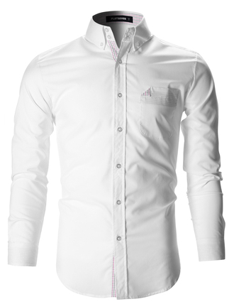 shirt white white shirt business casual long sleeves business look white top menswear fashion