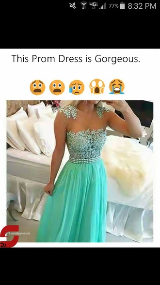 dress terquise blue homecoming prom