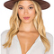 Lack of color the loam hat in earth brown & brown leather from revolveclothing.com