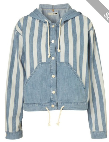 white blue blue shirt jacket topshop stripes
