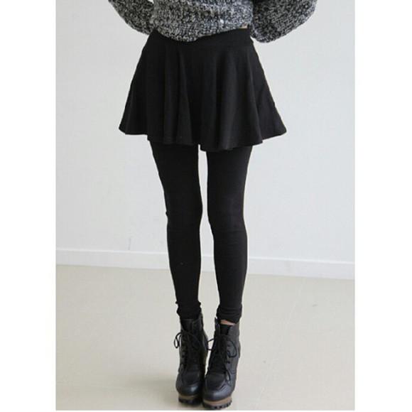 skirt black skater skirt skater skirt