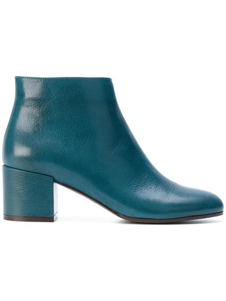 L'Autre Chose zip women king boots leather blue shoes