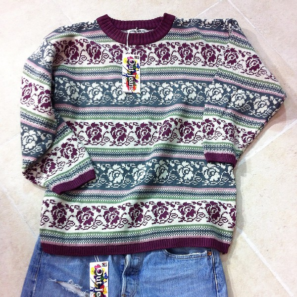 out jeans vintage pullover