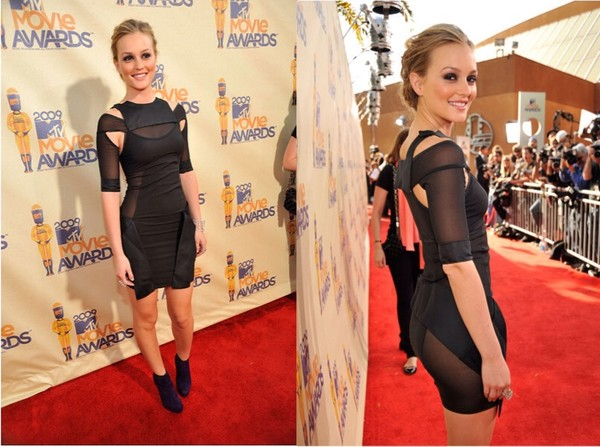 dress leighton meester little black dress mtv movie awards similar version