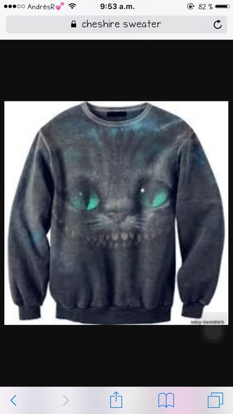sweater cheshire cats cat sweater alice in wonderland hoodie sweatshirt