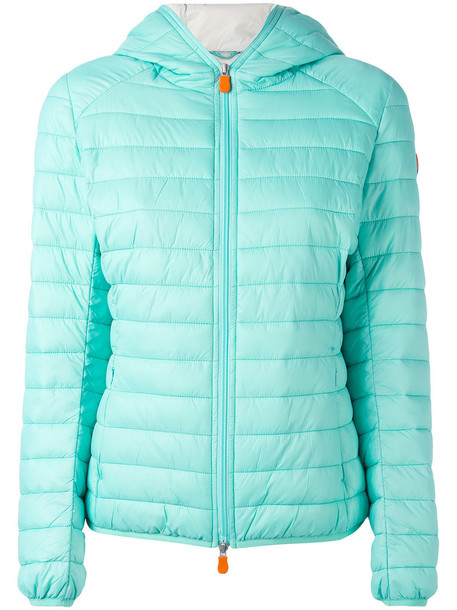 Save The Duck jacket puffer jacket women green