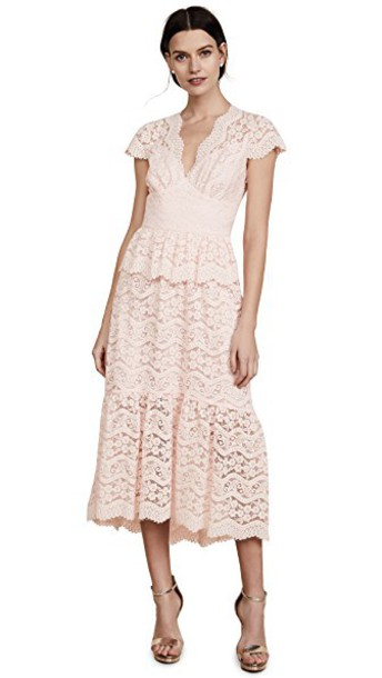 Temperley London dress v neck dress v neck lace shell