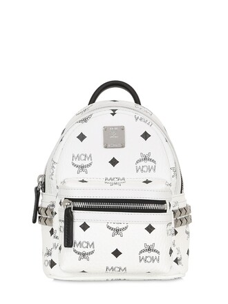 mini backpack canvas backpack white bag