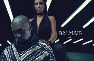 dress sexy dress balmain kim kardashian kanye west embellished couture menswear necklace black dress embroidered