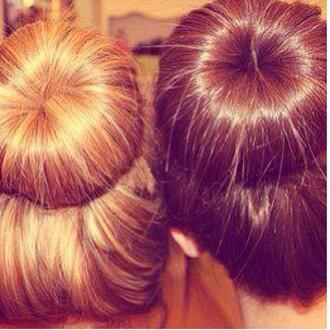hair accessory blonde hair hair bun bundonut brunette bundonuts