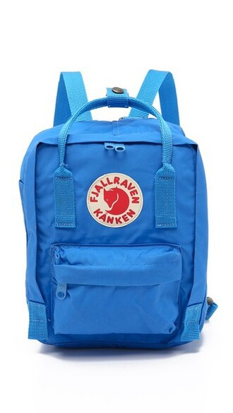 mini backpack blue bag