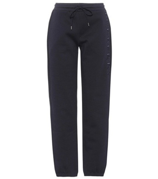 Burberry sweatpants embroidered cotton blue pants