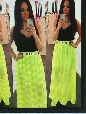 skirt red lime sunday mesh neon
