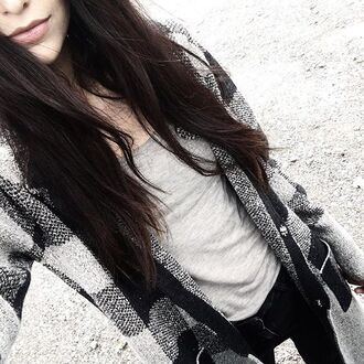 cardigan blanc sanctuary sweater pull noir winter outfits winter sweater long sleeves plaid carreaux revolve clothing revolveme revolve long sweater