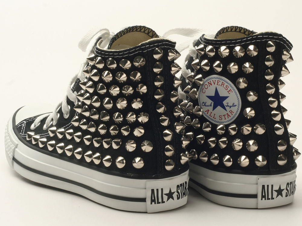 Genuine Converse All Star Spike Studded Black with Silver