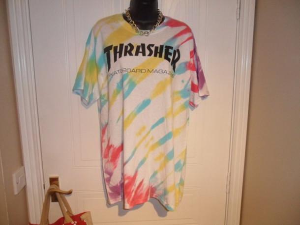 Thrasher t Shirt Tie Dye t Shirt Thrasher Tie Dye Tie