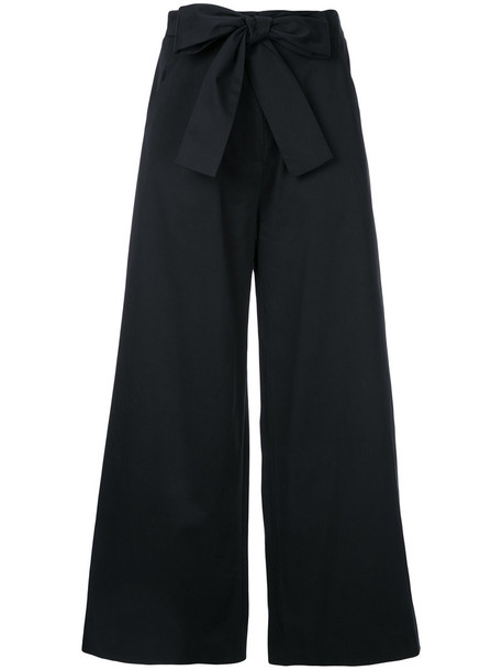 bow women spandex cotton black pants