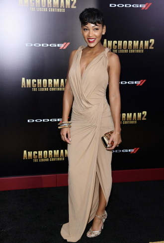 dress meagan good beige dress elegant summer dress spring dress fall dress blouse shoes