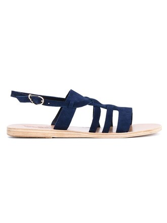 sandals suede blue shoes