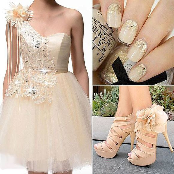 nude dress dress cocktail dresses shoes nail polish nude high heels nude prom dress