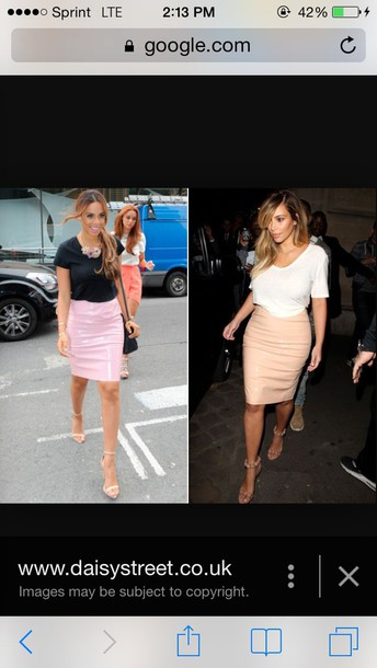 skirt nude kim kardashian midi skirt pink dress