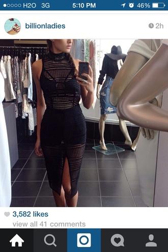 dress black black dress sexy sexy dress mesh mesh dress