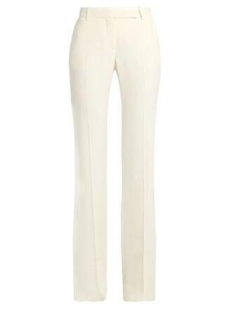 flare white pants