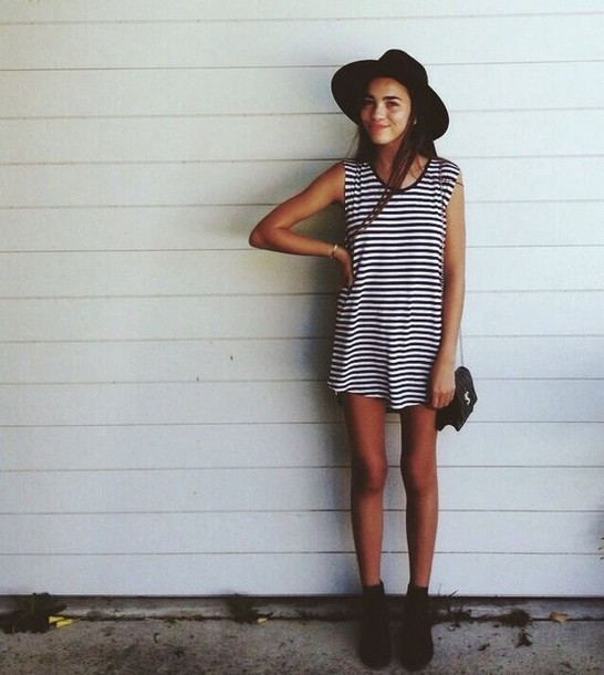 dress t-shirt dress stripes