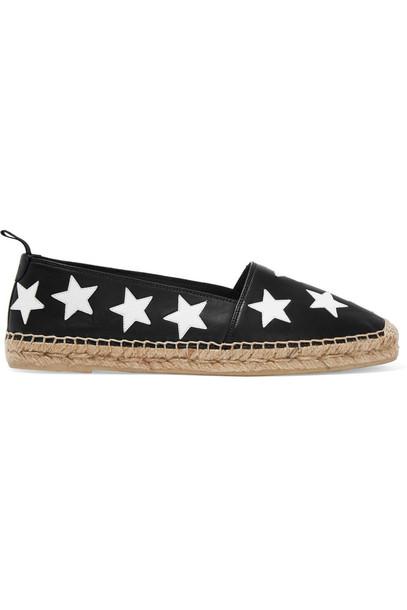 Saint Laurent espadrilles leather black shoes