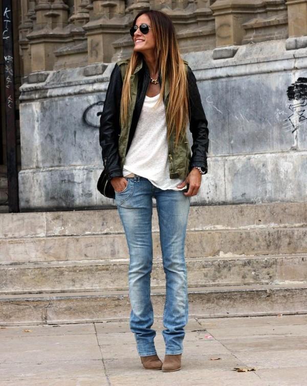 rebel attitude jacket pants t-shirt jewels bag shoes