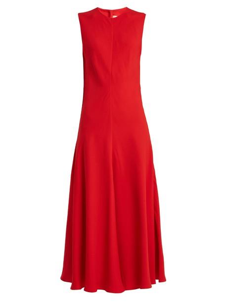 KHAITE dress sleeveless red