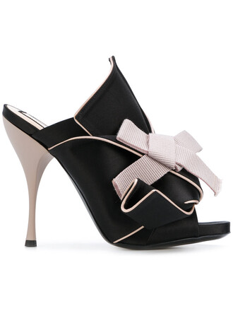 women sandals leather black silk satin shoes