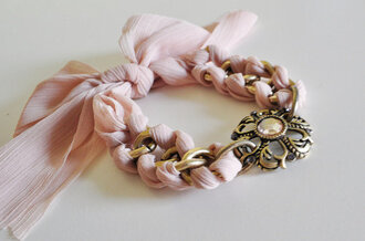 jewels light pink pale pink gold chain gold chain bracelets