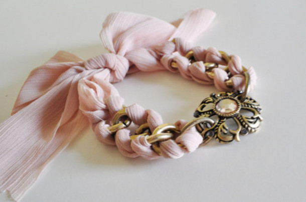 jewels pale pink pale pink gold chain gold chain bracelets