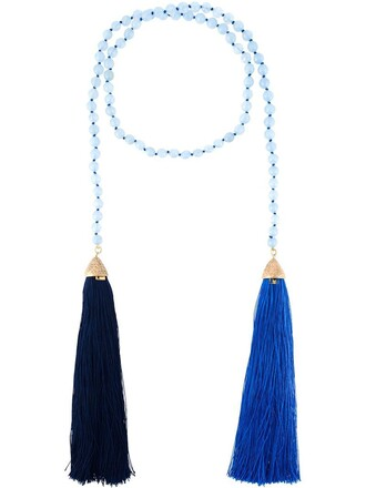 necklace blue jewels