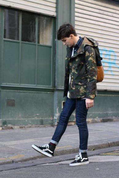 jacket windbreaker camouflage for menswear