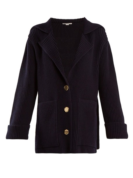 Stella McCartney cardigan cardigan wool navy sweater