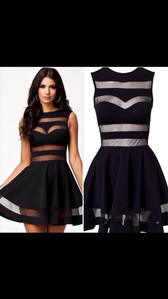 dress black mesh dress fancy dress