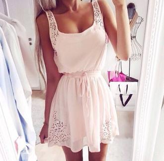 dress pink dress summer dress summer spring dress baby pink baby pink dress